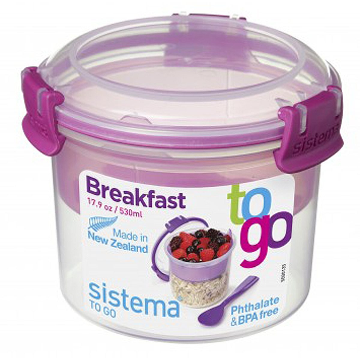sistema sistema Box Breakfast To Go 0.53 l, pink