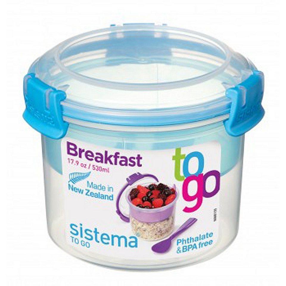 sistema sistema Box Breakfast To Go 0.53 l, blau in blau