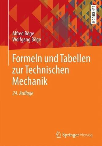 Broschiertes Buch »Formeln und Tabellen zur Technischen Mechanik«