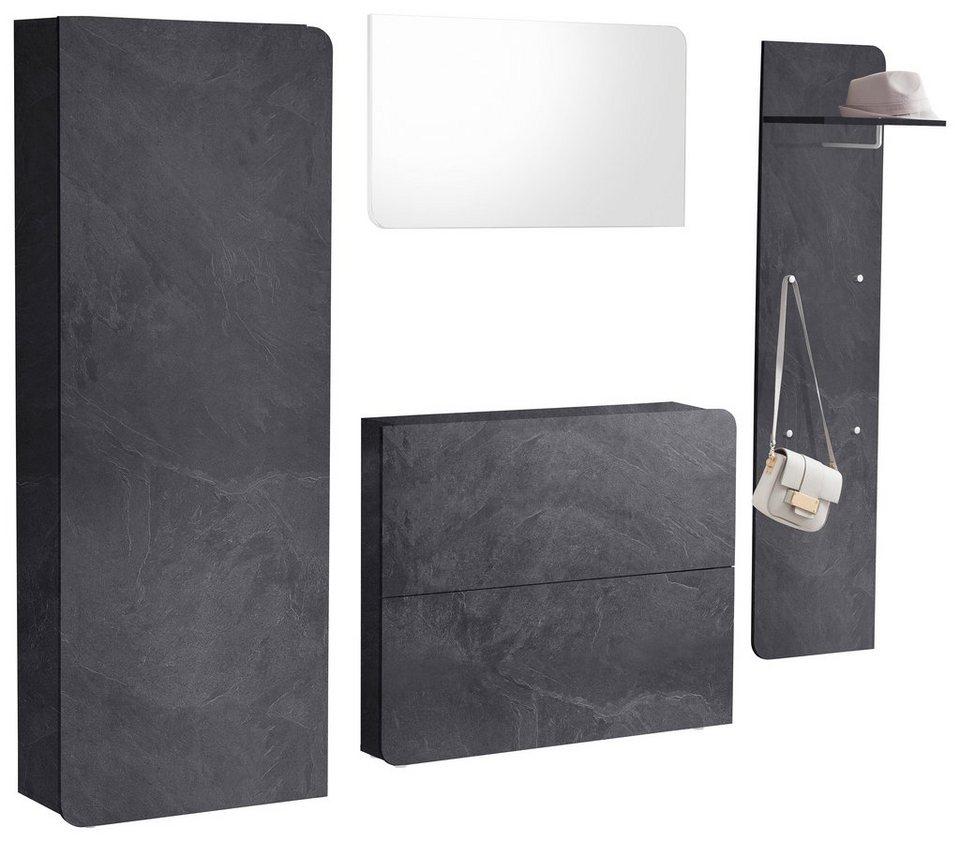 garderoben set goccia 4 tlg online kaufen otto. Black Bedroom Furniture Sets. Home Design Ideas