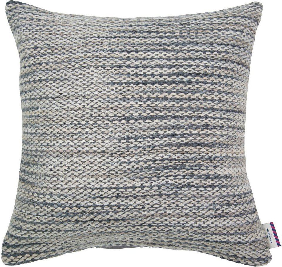 Kissenhülle, Tom Tailor, »Softly Knit« (1 Stück) in grau/beige