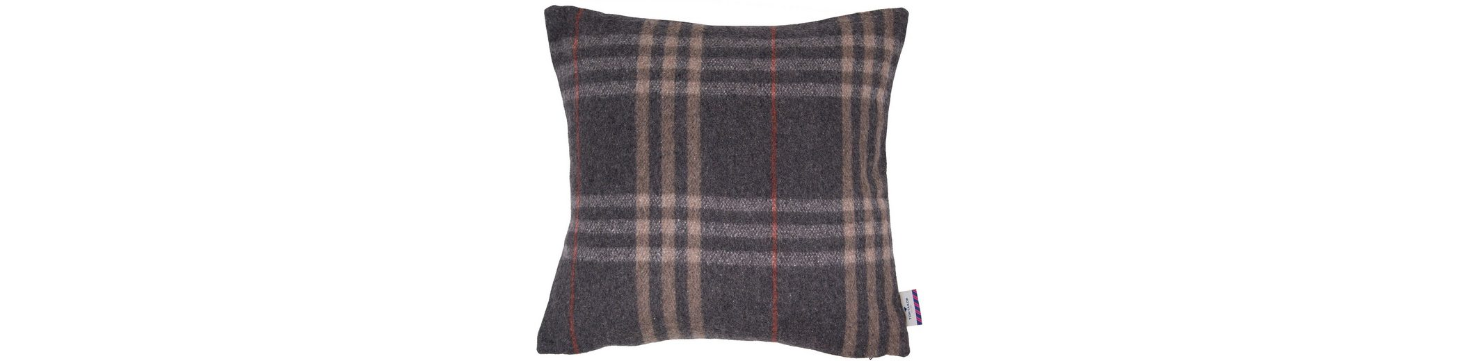 Kissenhülle, Tom Tailor, »Wool Check« (1 Stück)