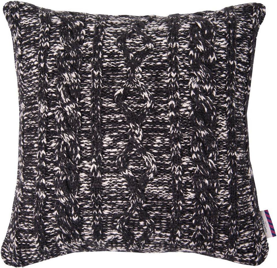 Kissenhülle, Tom Tailor, »Spotty« (1 Stück) in schwarz/weiß
