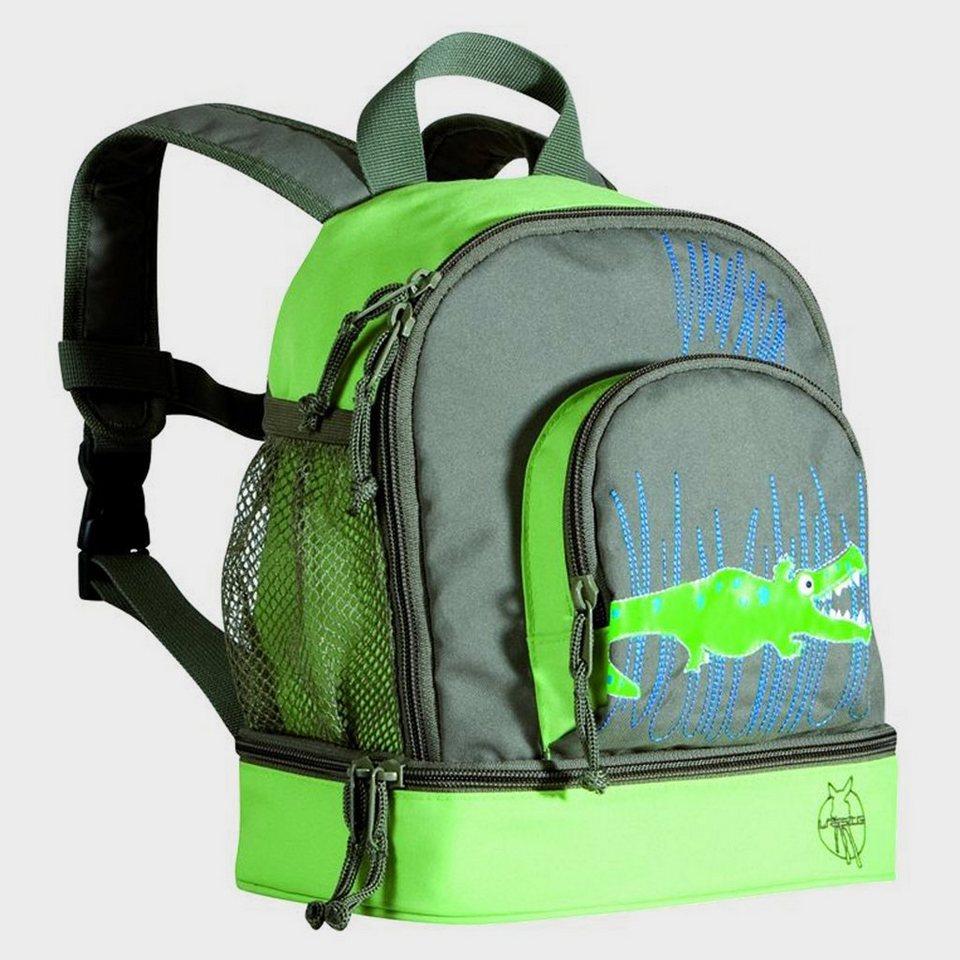 LÄSSIG Mini Backpack Crocodile granny in grün