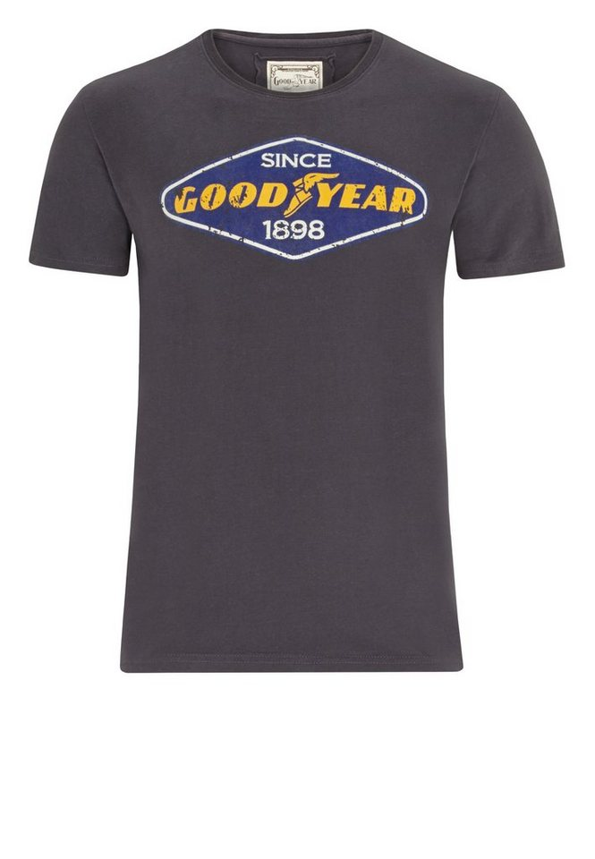 Goodyear T-Shirt »EAST LAKE« in Concrete Grey