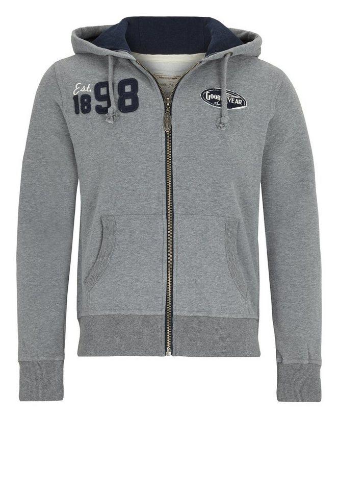 Goodyear Sweatjacke »FORT COLLINS« in Marl Grey