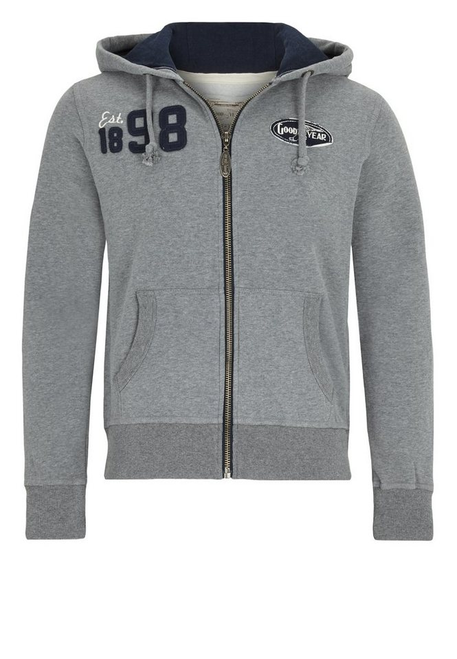Goodyear Sweatjacke in Marl Grey