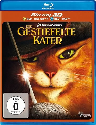 Blu-ray »Der gestiefelte Kater (Blu-ray 3D, + Blu-ray 2D)«