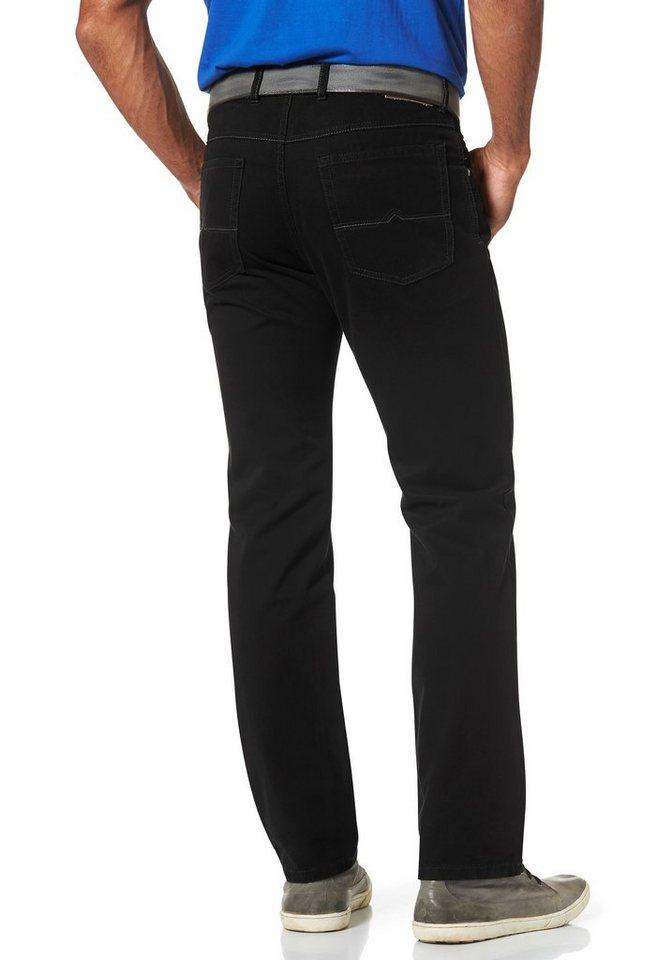 Man's World Stretch-Jeans mit Suprax Stretch-Bund in black