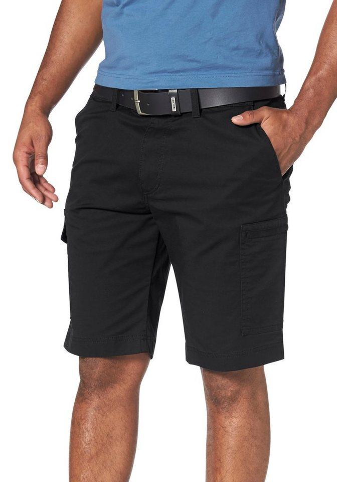 Pionier Shorts »Nils« mit seitlichem Dehnbund in schwarz