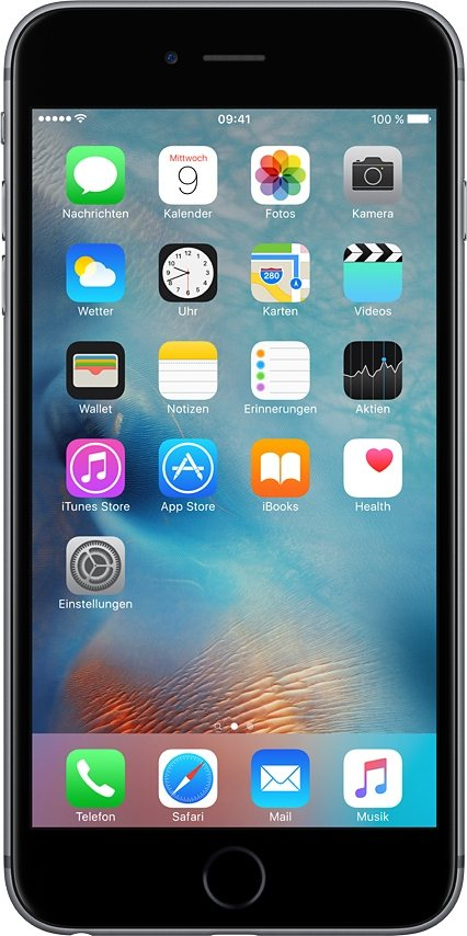 "Apple iPhone 6s Plus 5,5"" 128 GB in Space Grau"