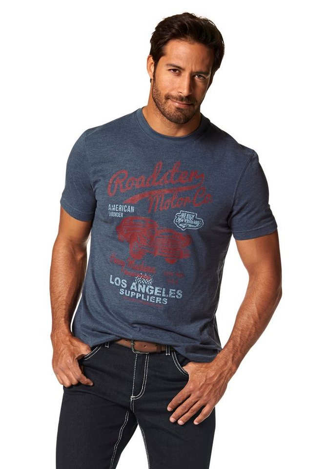 Arizona T-Shirt in blau-meliert