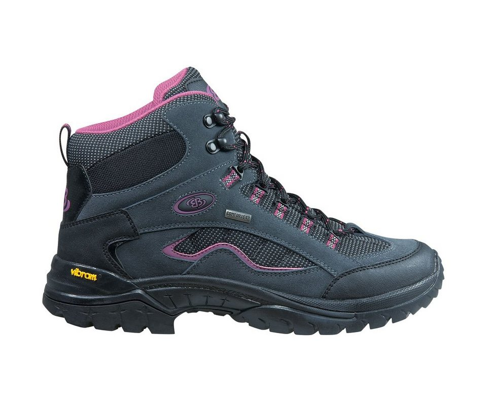 Brütting Trekkingstiefel aus Veloursleder »SUMMIT HIGH« in grau/pink/schwarz