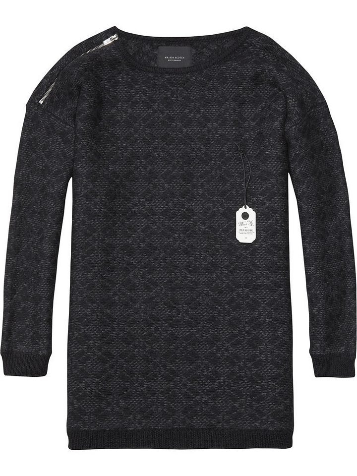 Maison Scotch Strickpullover »Longer length relaxed fit knit« in schwarz