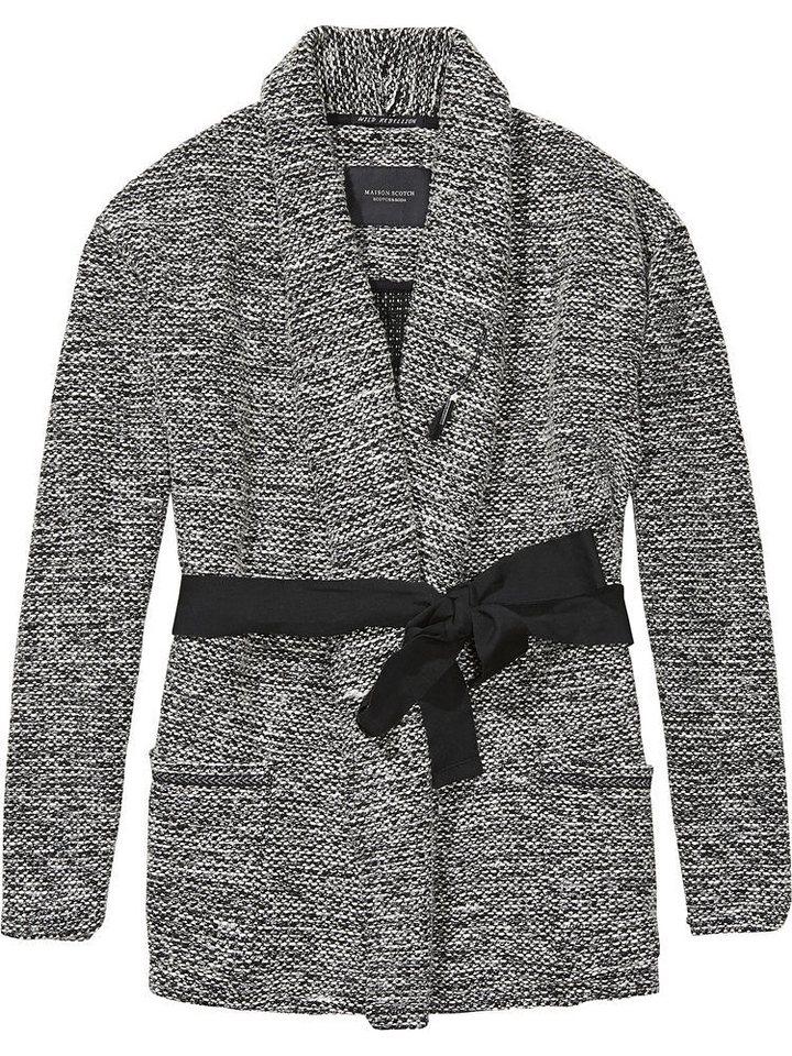 Maison Scotch Blazer »Langer Blazer mit Bindegürtel« in grau