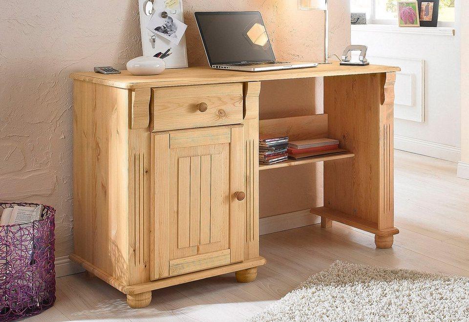 Home affaire Schreibtisch »Adele« in gelaugt/geölt