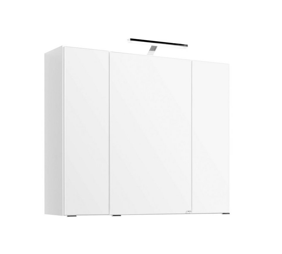 Spiegelschrank »Mailand«, Breite 80 cm in weiß