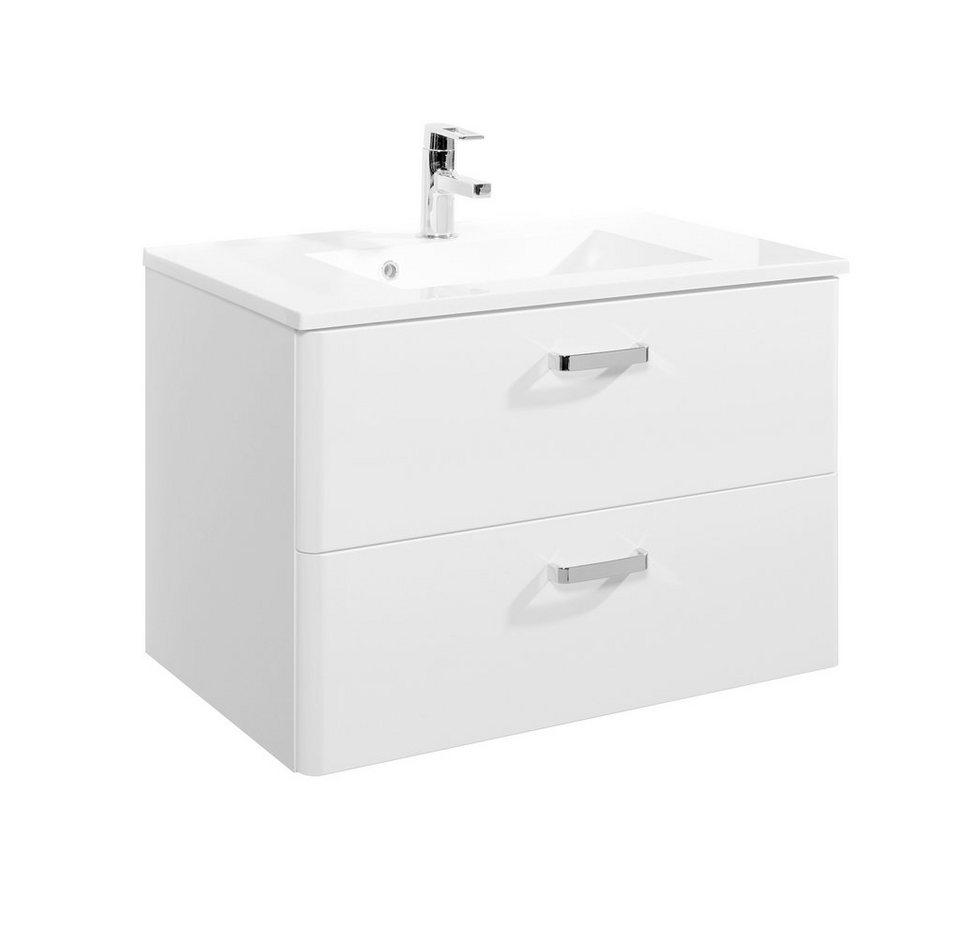 Held Möbel Waschtisch »Mailand«, Breite 80 cm, (2-tlg.) in weiß