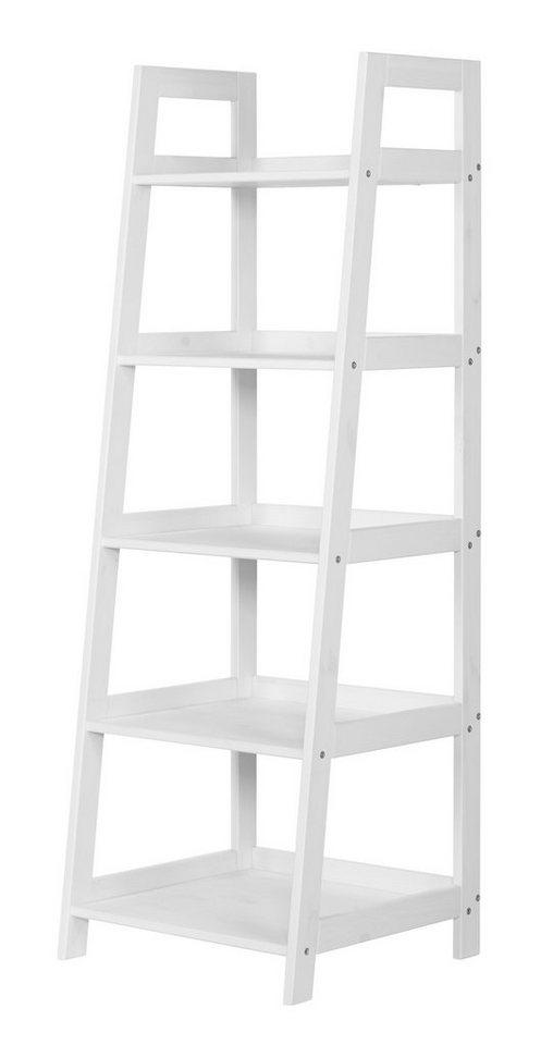 Badregal »Amrum«, Massivholz, 5 Fächer in weiß