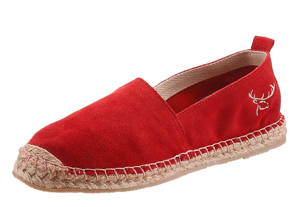 Andrea Conti Trachtenschuh Damen mit Hirschapplikation in rot