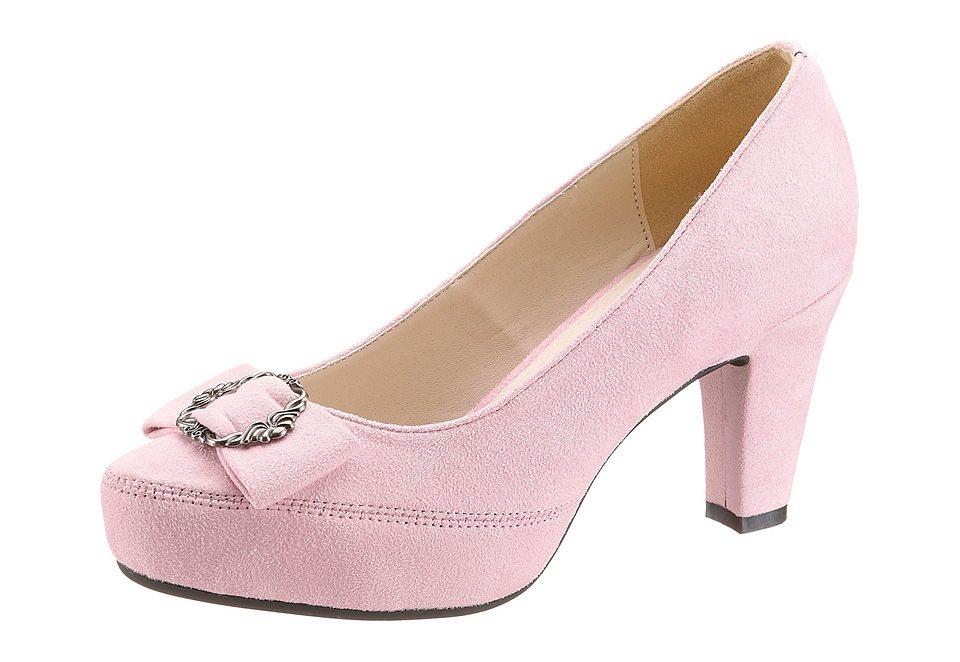 Andrea Conti Trachten-Pumps in rosa