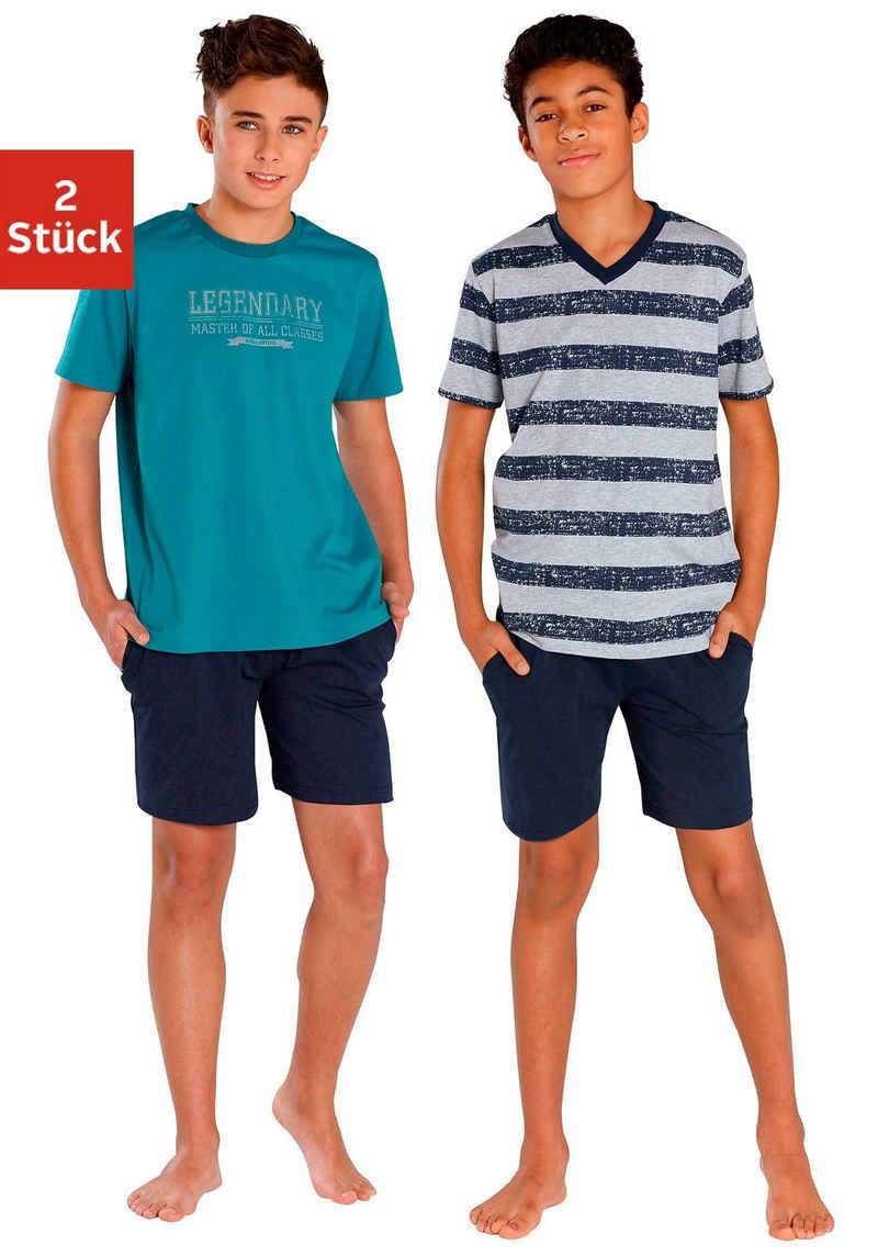 le jogger® Pyjama (2 tlg., 2 Stück) in kurzer Form