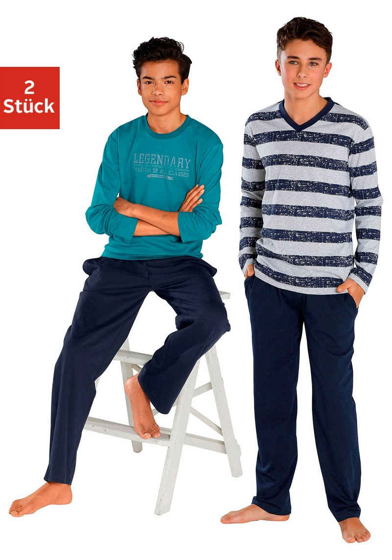 le jogger® Pyjama (2 tlg., 2 Stück) in langer Form