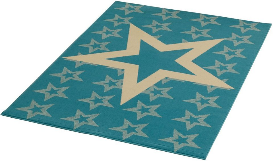 Teppich »Sterne«, Hanse Home, rechteckig, Höhe 9 mm in blau