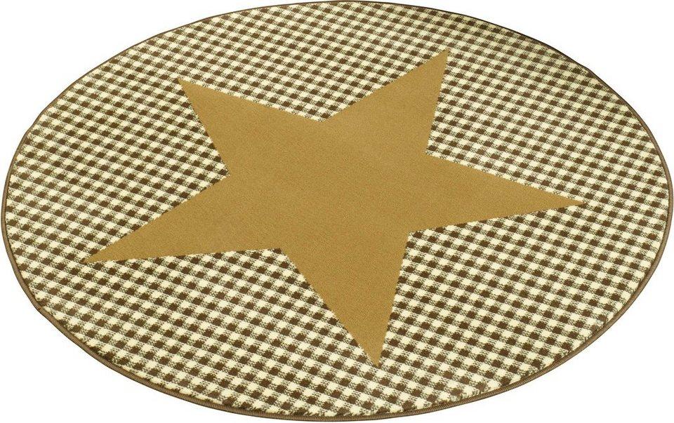 Teppich »Stern«, Hanse Home, rund, Höhe 9 mm in gelb