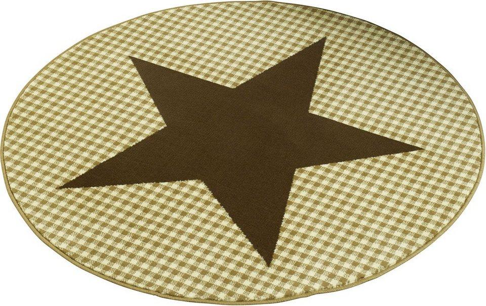 Teppich »Stern«, Hanse Home, rund, Höhe 9 mm in braun