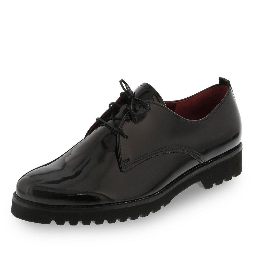 Gabor Comfort Schnürschuh in schwarz