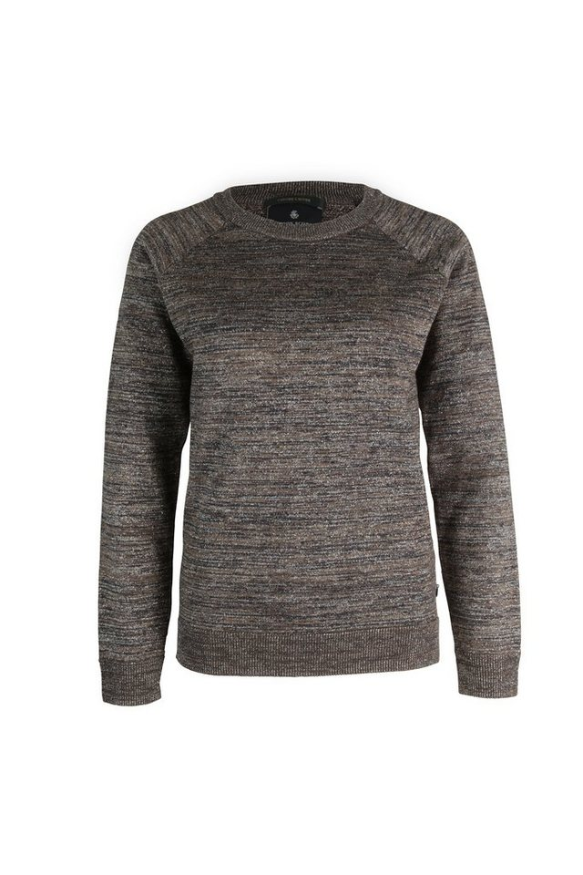 Maison Scotch Pullover »Crew neck knitted sweater with lurex yarn« in braun
