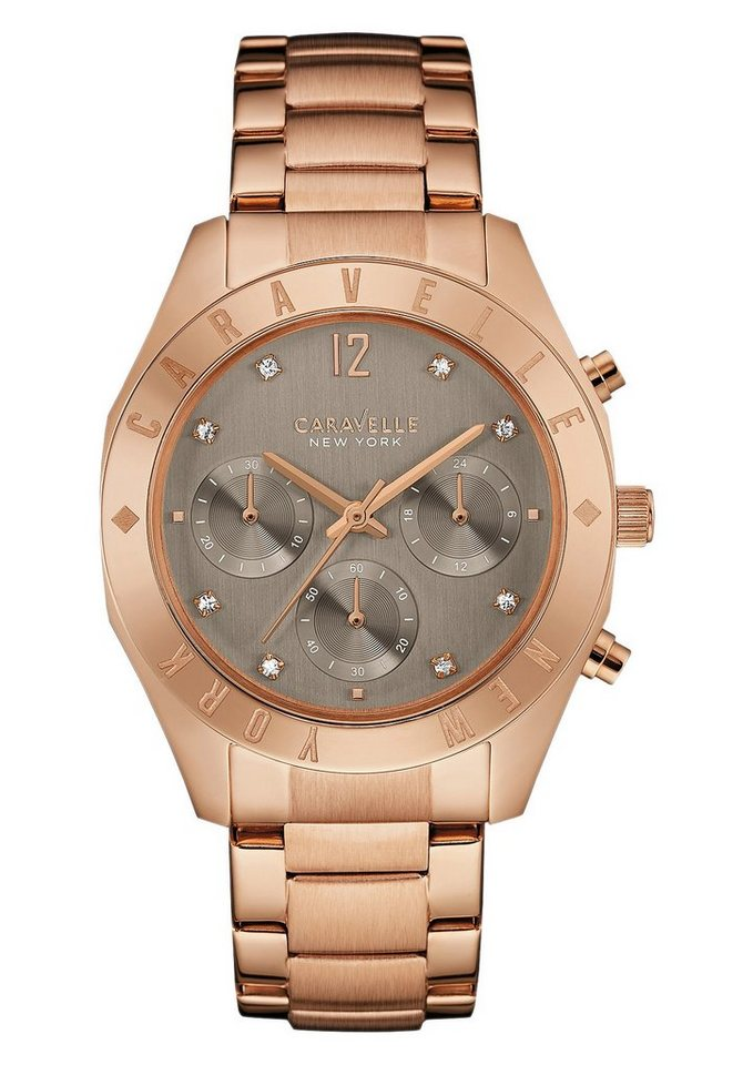 Caravelle New York Chronograph »Boyfried, 44L190« in roségoldfarben