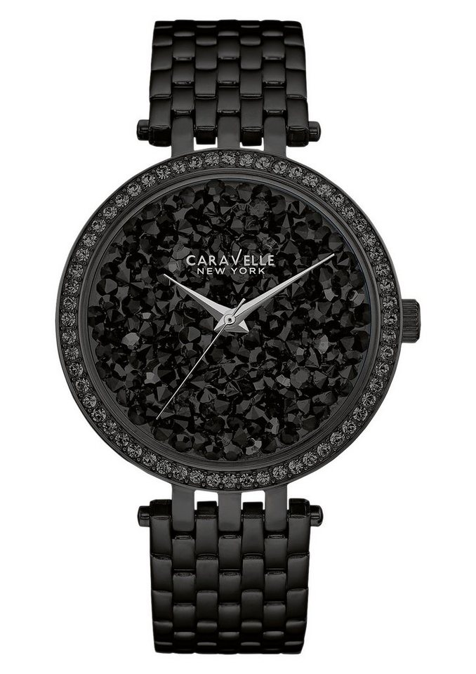 Caravelle New York Quarzuhr »Crystal Rock, 45L147« in schwarz