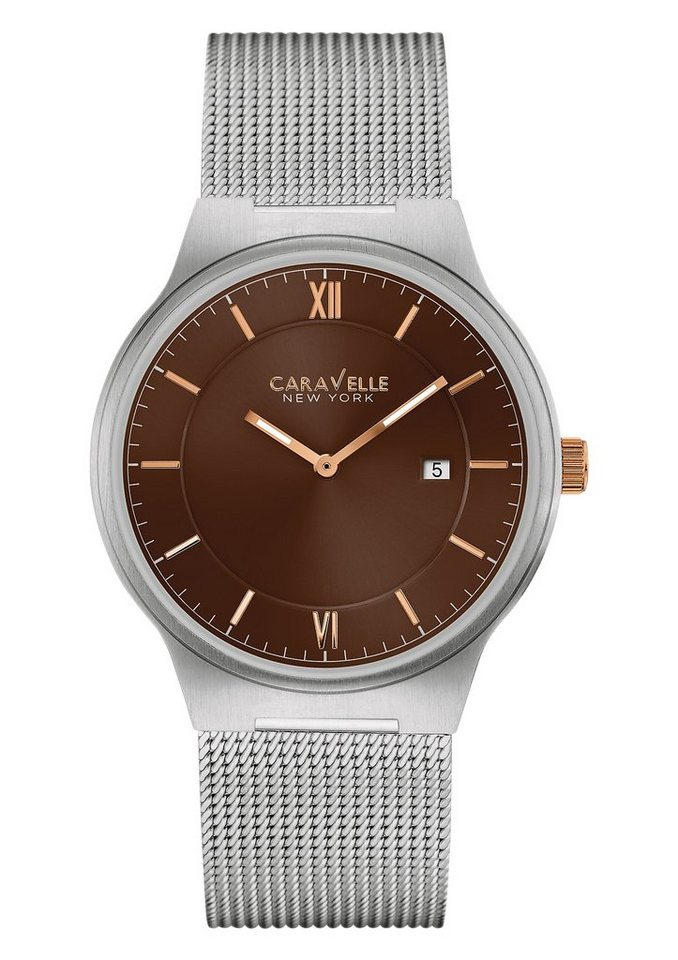 Caravelle New York Quarzuhr »Dress, 45B138« in silberfarben