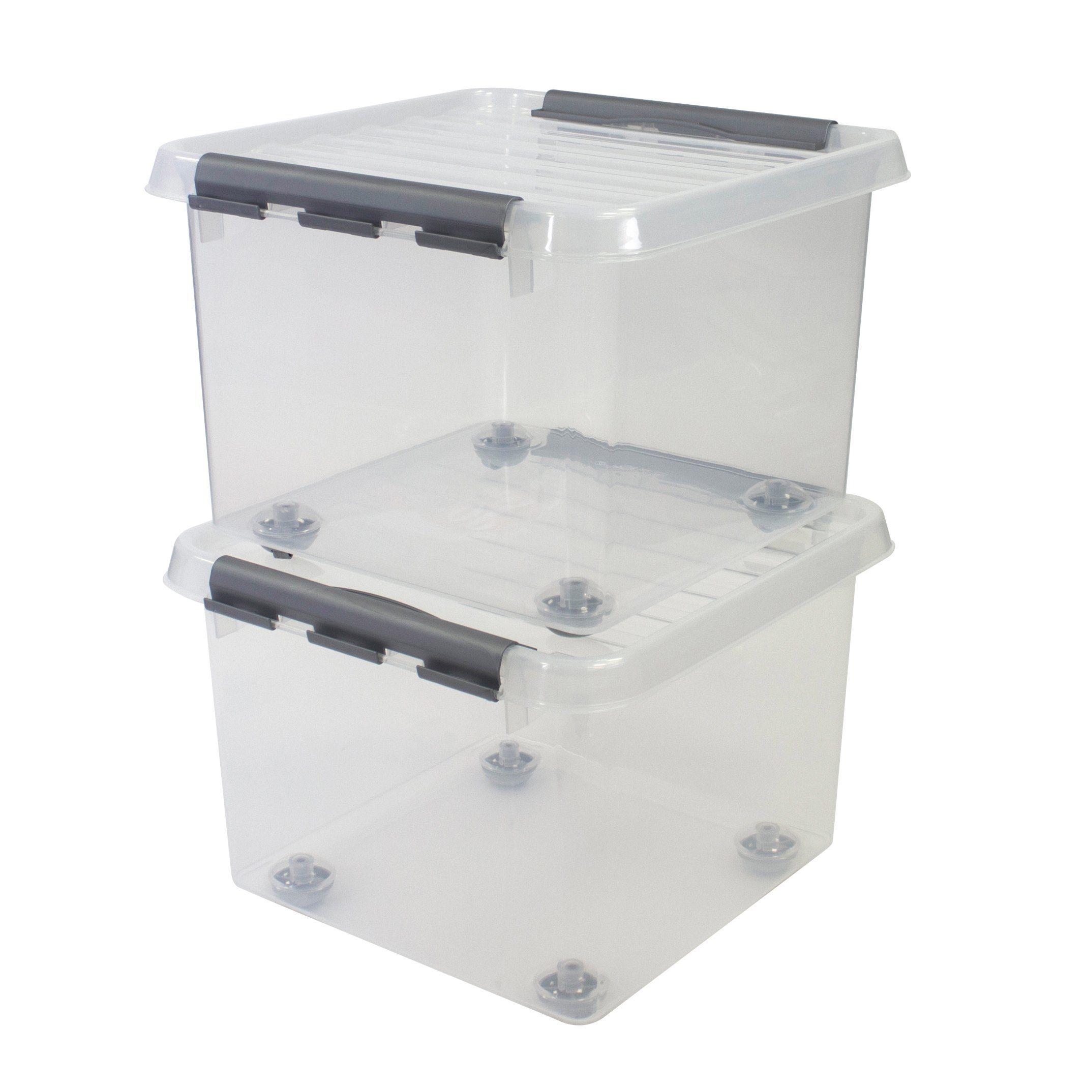 2er Set Aufbewahrungsboxen »26 Liter«, mit Rollen