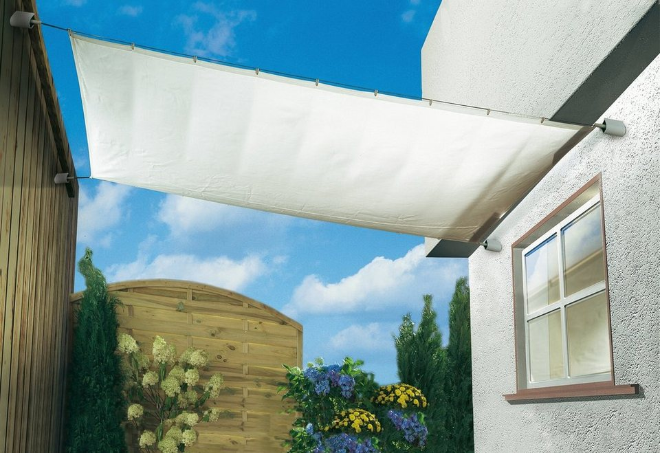 Sonnensegel »Spar-Set silbergrau in 3 Größen« in grau