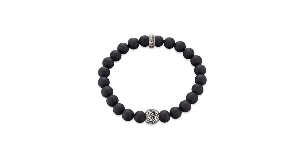 Erzengel Zugarmband mit schwarzen Onyxperlen, »Maori Manaia, ZJB-MA-1S-24O«