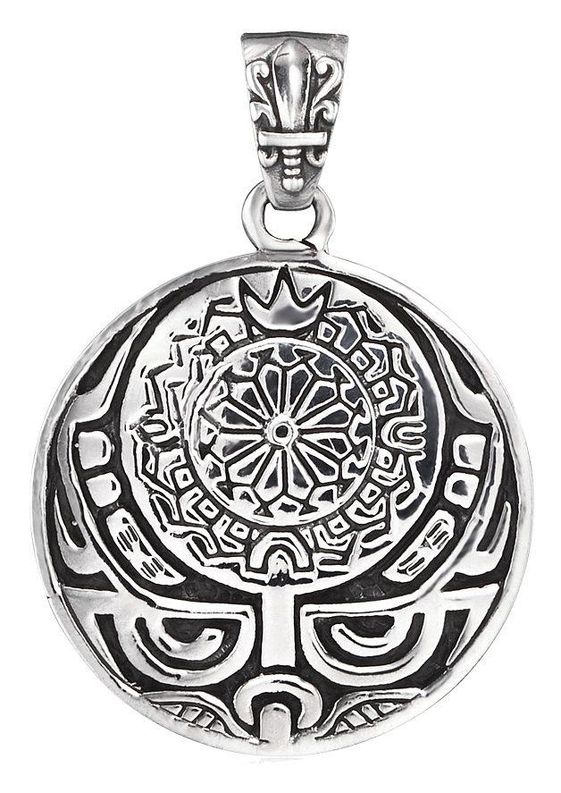 Erzengel Halsschmuck: Anhänger ohne Kette »Maori Rongo, ZJP-07-ROS, ZJP-08-ROM« Gottheit Rongo in Silber 925