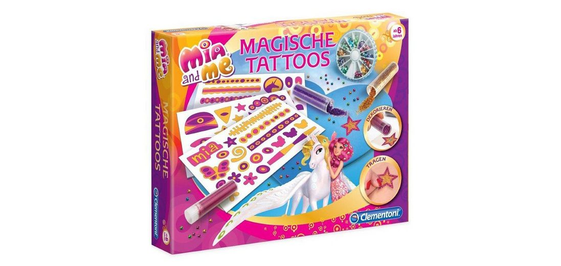 Clementoni Bastelset, »Mia and me - Magische Tattoos«