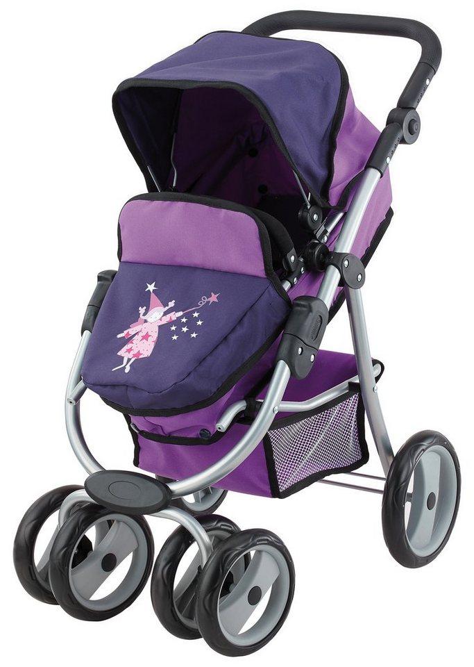 Bayer Design Puppenwagen, »Jogger Vario, Fee« in lila