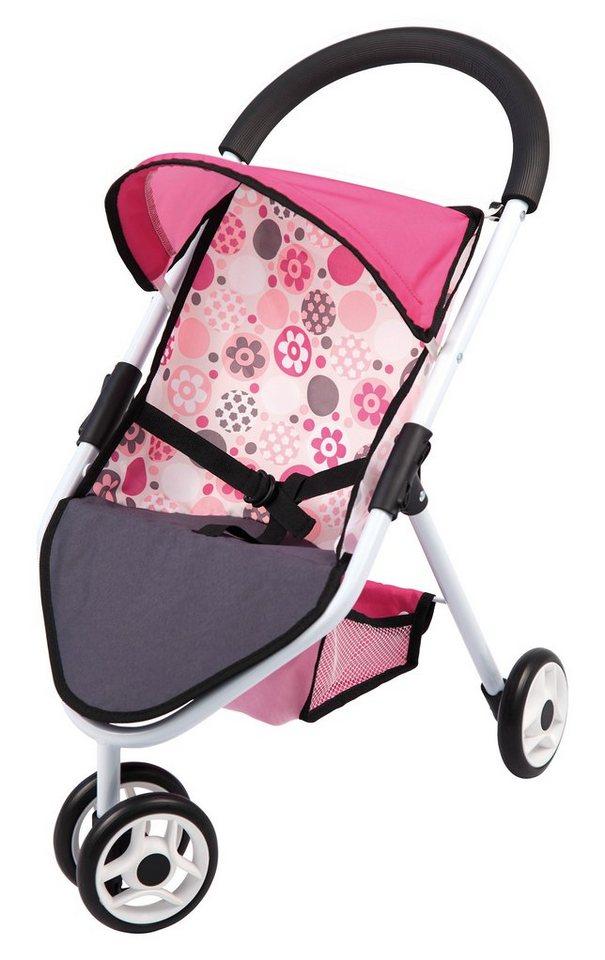 Bayer Design Puppenwagen, »Puppen Jogger« in rosa