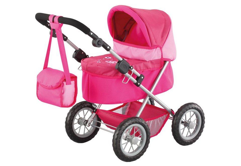 Bayer Design Puppenwagen inkl. Wickeltasche, »Trendy, Herz« in rosa