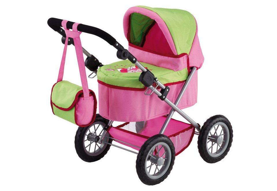 Bayer Design Puppenwagen inkl. Wickeltasche, »Trendy, Fee« in rosa