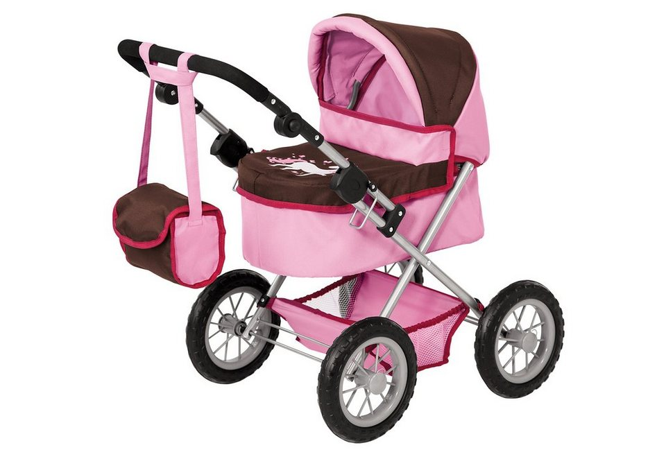 Bayer Design Puppenwagen inkl. Wickeltasche, »Trendy, Einhorn« in rosa