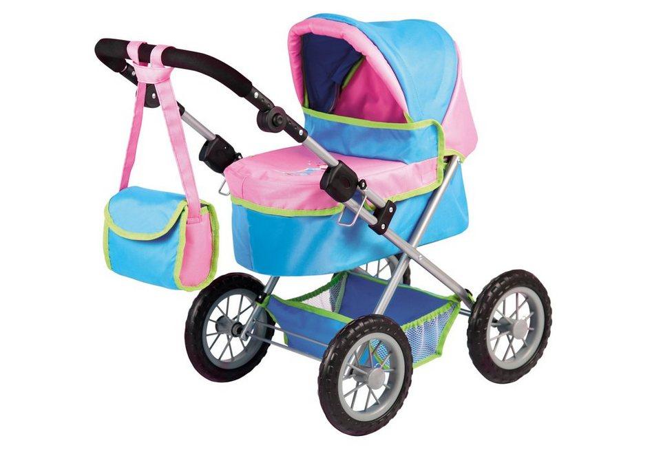 Bayer Design Puppenwagen inkl. Wickeltasche, »Trendy, Mädchen« in blau