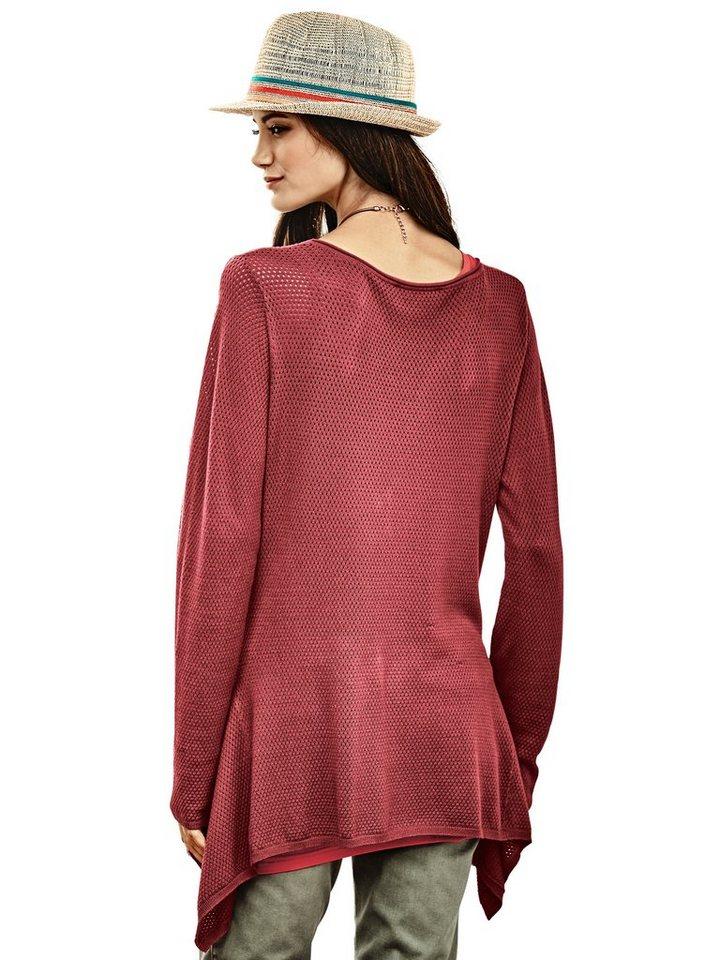 Crochet-Pullover in rot