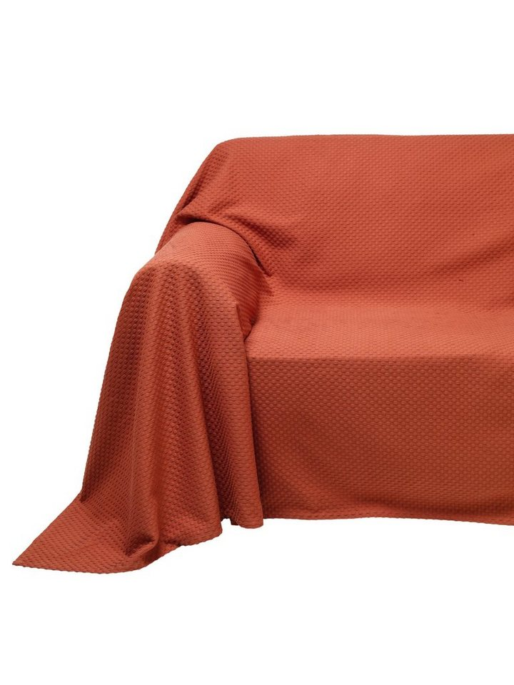 heine home Sofaüberwurf in terracotta