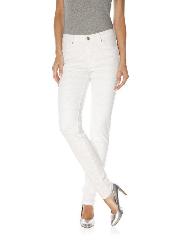 CLASS INTERNATIONAL FX Bodyform-Push-up-Jeans in weiß