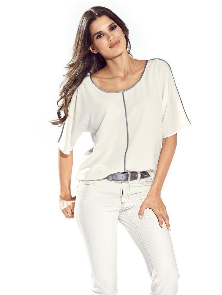 Oversized-Bluse in offwhite